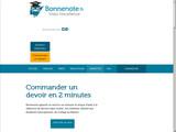Aide pour devoir sur BonneNote.fr